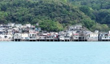 A fishing village from the ferry ried to Tung Lung Chau.